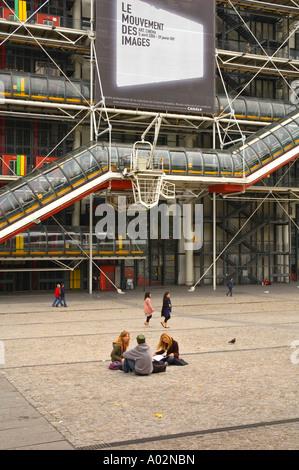 Centre Pompidou in Le Marais district of Paris the capital of France EU - Stock Photo