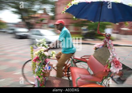 Trishaw, Melaka, Malaysia - Stock Photo