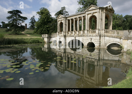 ... The Reflections Of The Palladian Bridge Below The Gothic Temple At The  250 Acre, Stowe