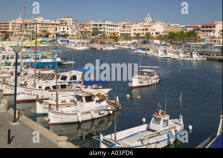 The harbour at Cala Ratjada on Mallorca. - Stock Photo