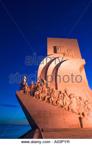 Monument to the Discoveries Padrao dos Descobrimentos Belem Lisbon Portugal - Stock Photo