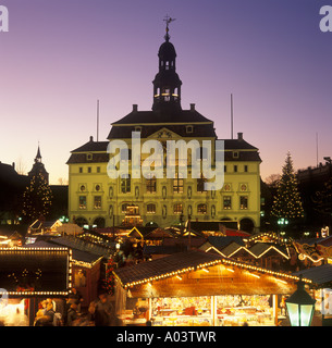Christmas Market in Lueneburg in Northern Germany - Stock Photo