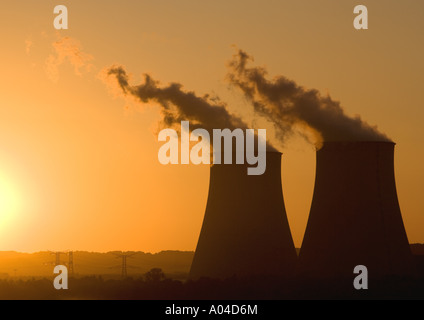 Nuclear power plant, Nogent-sur-Seine, France - Stock Photo