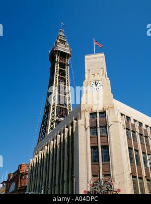 Blackpool Tower, Blackpool, Lancashire, England, UK. - Stock Photo