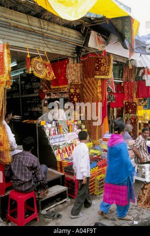 India Andhra Pradesh Hyderabad Laad Bazaar shop - Stock Photo