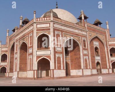 DELHI INDIA ASIA November Humayun's Tomb the first and one of the finest examples of a garden tomb - Stock Photo