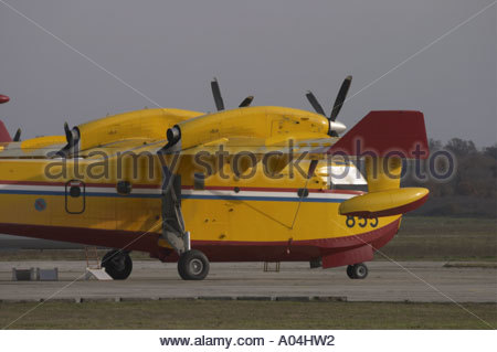 Canadair CL-415 '855' water bomber Croatian Air Force - Stock Photo