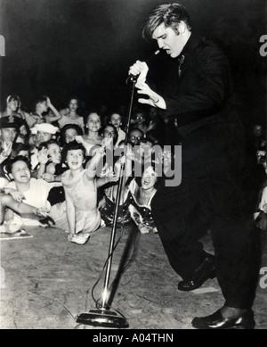 ELVIS PRESLEY in 1956 - Stock Photo