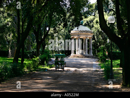 tourist bike in the Parco della Villa Borghese, rome, italy - Stock Photo