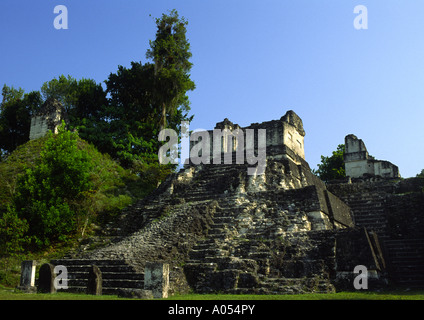 North Acropolis, Tikal, El Petén, Guatemala - Stock Photo