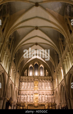 The High Altar vaulted ceiling - Southwark Cathedral - London - Stock Photo