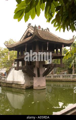 Vietnam Hanoi Centre Old Quarter Ho Chi Minhs Mausoleum Complex Religion One Pillar Pagoda dedicated to Goddess - Stock Photo