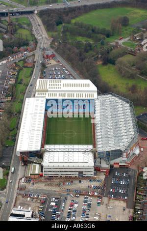 Aerial view of Aston Villa Football Club in Birmingham, also known as Villa Park, home to the Villa, the Villans - Stock Photo