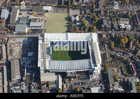 Aerial view of Tottenham Hotspur Football Club in London. It is also called White Hart Lane and is home to Spurs - Stock Photo