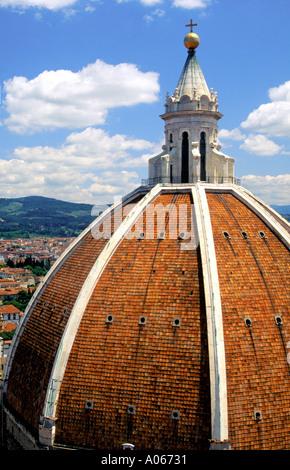 Duomo's Cupola Florence Italy - Stock Photo