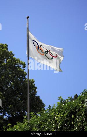Olympic flag - Stock Photo