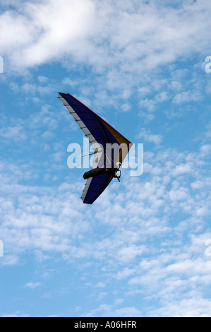 Hand gliding on the Malvern Hills - Stock Photo
