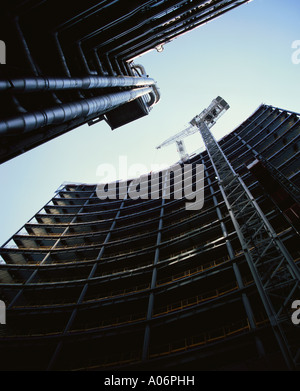 Construction of new office block 51 Lime Street opposite Lloyds building London - Stock Photo
