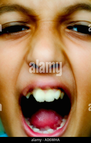 close-up portrait boy - Stock Photo
