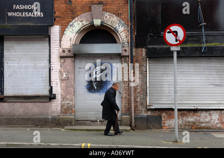 Copyright Photograph by Howard Barlow MANCHESTER IN THE NORTHERN QUARTER - Stock Photo