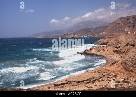 Arkassa Finiki Karpathos Greek Island Dodecanese Greece EU European Union Europe - Stock Photo