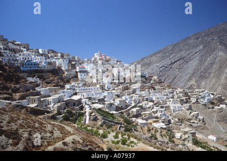 Olympos Olymbos Isolated Village Greek Dodeacnese Island KArpathos Karpathos Greece - Stock Photo