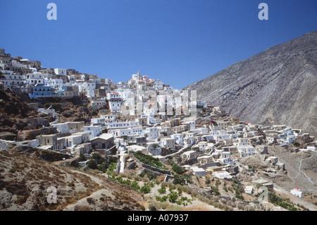 Olympos Olymbos Isolated Village Greek Dodeacnese Island KArpathos Karpathos Greece - Stock Photo