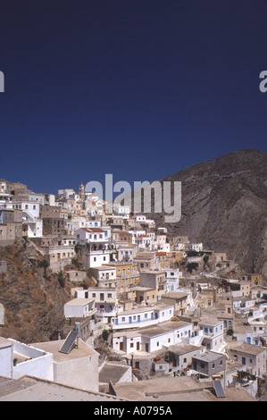 Olympos Olymbos Greek Dodecanes Island Karpathos Greece - Stock Photo