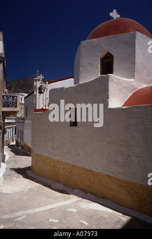 Mountain Village of Olympos Olymbos Greek Island of Karpathos Dodecanese Greece Europe - Stock Photo