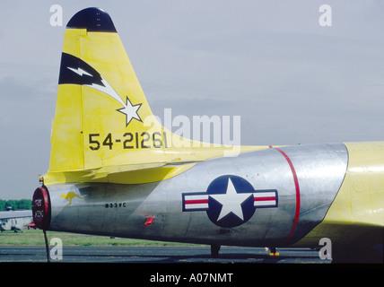 Lockheed P80 Shooting Star early USAF jet fighter  GAV 4009-382 - Stock Photo