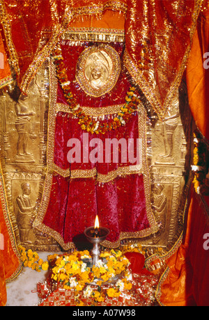 Amritsar punjab India Langa Wali Devi Arti Light - Stock Photo