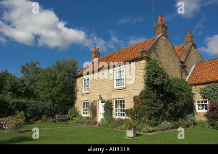 thornton le dale traditional  stone cottage north yorkshire england uk gb eu europe - Stock Photo