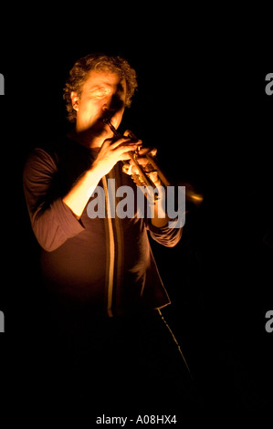 Nils Petter Molvaer giving a live concert at Die Scheune Dresden Germany in November 2005 - Stock Photo