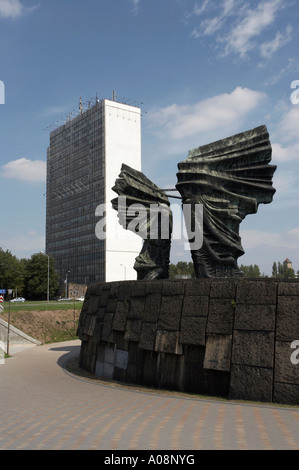 Monument to the Silesian Insurgents in Katowice - Stock Photo