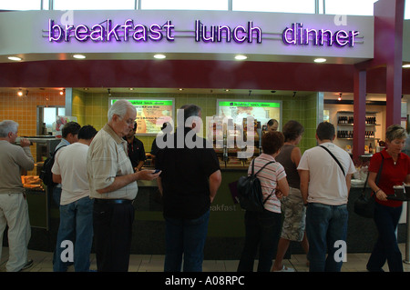 Fast food outlet in Brisbane Airport, Australia - Stock Photo