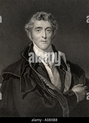 Arthur Wellesley, 1st Duke of Wellington, 1769 - 1852. British soldier and statesman. - Stock Photo