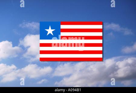 Africa flag of Liberia - Stock Photo