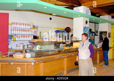 Inside the Cafe Corris Craft Centre North West Wales - Stock Photo