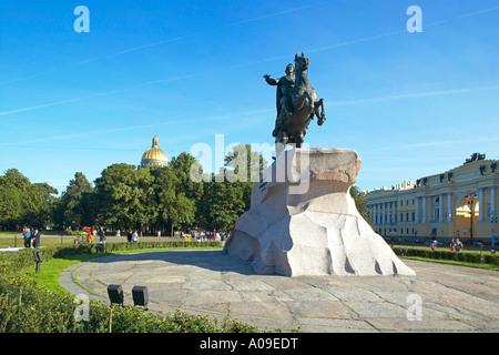 Sankt Petersburg, Eherner Reiter, Saint Petersburg horseback rider - Stock Photo