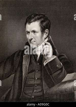 Sir Humphrey Davy, 1st Baronet, 1778 - 1829. English chemist and inventor of the Davy lamp. President of the royal - Stock Photo