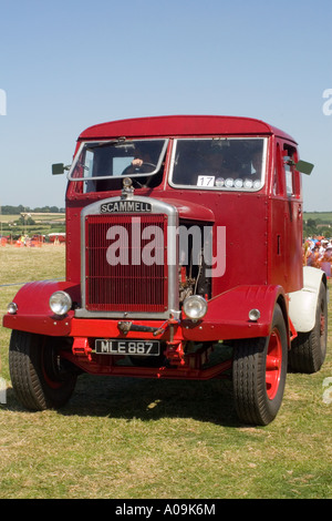 Vintage Scammell tractor unit at the Somerset Steam Spectacular - Stock Photo
