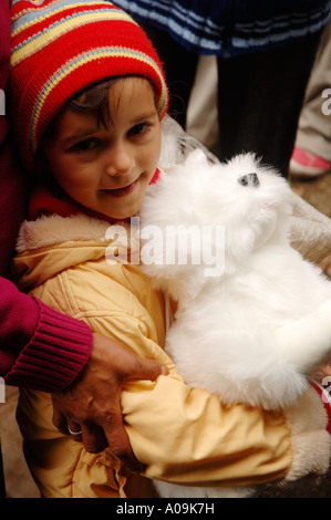 Romani Gipsy community village in the district of Spantov, southeastern Romania. - Stock Photo