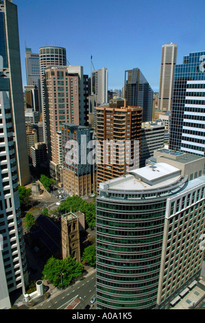 Office towers, downtown business district, City of Sydney, NSW Australia - Stock Photo
