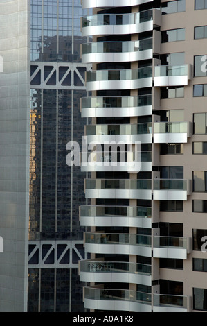 High-rise hotel apartments, The Rocks, Sydney Australia - Stock Photo