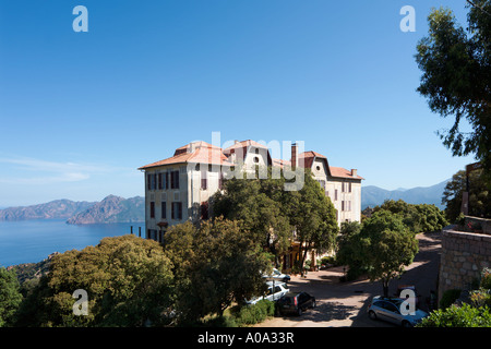 Les Roches Rouges Hotel, Piana, Gulf of Porto, Corsica, France - Stock Photo