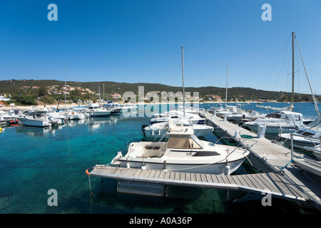 Harbour at Porto Pollo, near Propriano, Gulf of Valinco, Alta Rocca region, Corsica, France - Stock Photo