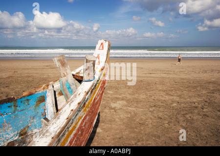 Single Man On Legian Beach - Stock Photo
