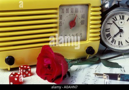 Old Philco radio - Stock Photo