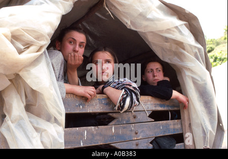 young refugees from Kosovo - Stock Photo