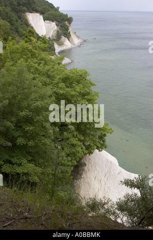 chalk cliffs of Ruegen, Germany, Mecklenburg-Western Pomerania, NP Jasmund - Stock Photo